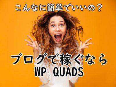 WP QUADSは簡単操作