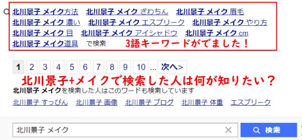 北川景子メイクの虫眼鏡キーワード