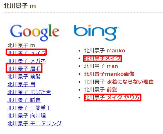キーワードサジェスト.com北川景子メイク
