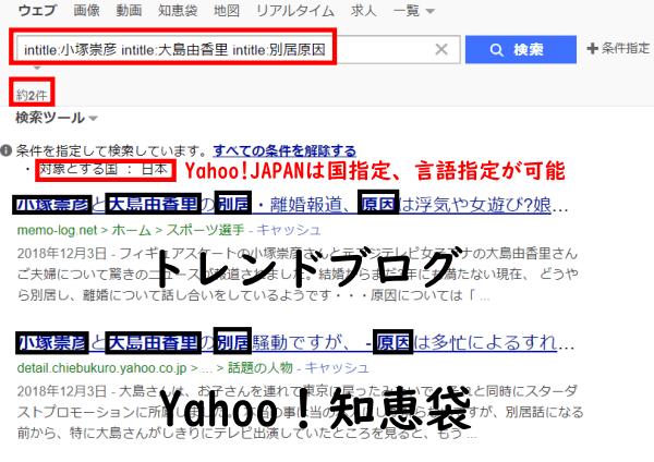 Yahoo!JAPAN条件指定結果